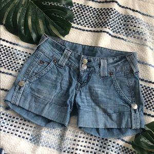 True Religion Sammy Big T Cuffed Shorts